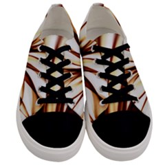Digital Tree Fractal Digital Art Men s Low Top Canvas Sneakers