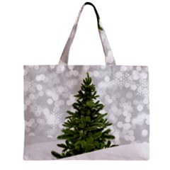 Christmas Xmas Tree Bokeh Zipper Mini Tote Bag