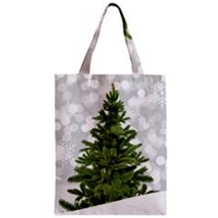 Christmas Xmas Tree Bokeh Zipper Classic Tote Bag
