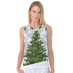Christmas Xmas Tree Bokeh Women s Basketball Tank Top