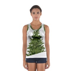 Christmas Xmas Tree Bokeh Sport Tank Top