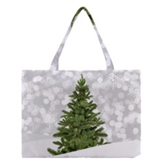 Christmas Xmas Tree Bokeh Medium Tote Bag