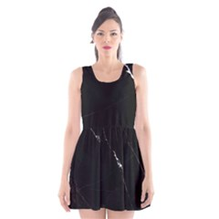 Black Marble Tiles Rock Stone Statues Scoop Neck Skater Dress