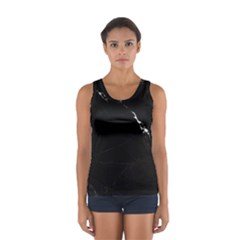 Black Marble Tiles Rock Stone Statues Sport Tank Top