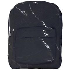 Black Marble Tiles Rock Stone Statues Full Print Backpack
