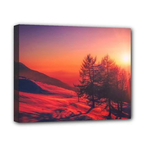 Italy Sunrise Sky Clouds Beautiful Canvas 10  X 8  by Simbadda