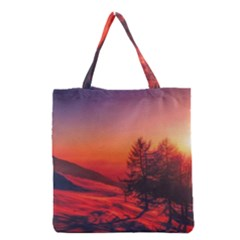 Italy Sunrise Sky Clouds Beautiful Grocery Tote Bag