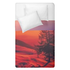 Italy Sunrise Sky Clouds Beautiful Duvet Cover Double Side (single Size)