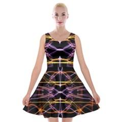 Wallpaper Abstract Art Light Velvet Skater Dress