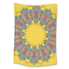 Star Quilt Pattern Squares Large Tapestry