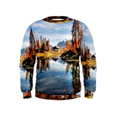 Dolomites Mountains Italy Alpine Kids  Sweatshirt