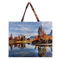 Dolomites Mountains Italy Alpine Zipper Large Tote Bag