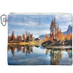 Dolomites Mountains Italy Alpine Canvas Cosmetic Bag (xxxl) by Simbadda