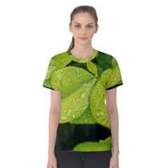 Leaf Green Foliage Green Leaves Women s Cotton Tee
