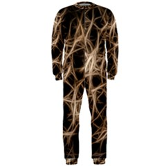 Structure Background Pattern Onepiece Jumpsuit (men)