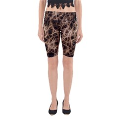 Structure Background Pattern Yoga Cropped Leggings
