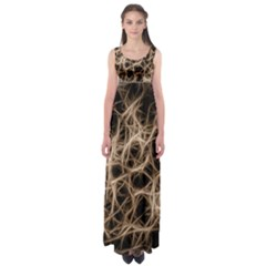 Structure Background Pattern Empire Waist Maxi Dress