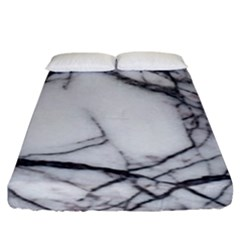 Marble Tiles Rock Stone Statues Fitted Sheet (king Size)