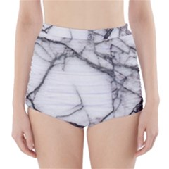 Marble Tiles Rock Stone Statues High Waisted Bikini Bottoms