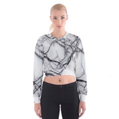 Marble Tiles Rock Stone Statues Cropped Sweatshirt