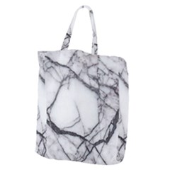 Marble Tiles Rock Stone Statues Giant Grocery Zipper Tote by Simbadda
