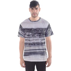 Marble Tiles Rock Stone Statues Pattern Texture Men s Sports Mesh Tee