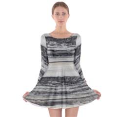 Marble Tiles Rock Stone Statues Pattern Texture Long Sleeve Skater Dress