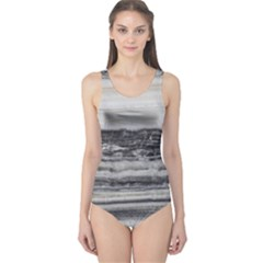 Marble Tiles Rock Stone Statues Pattern Texture One Piece Swimsuit
