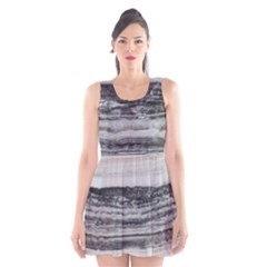Marble Tiles Rock Stone Statues Pattern Texture Scoop Neck Skater Dress