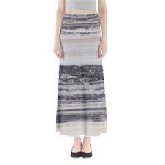 Marble Tiles Rock Stone Statues Pattern Texture Full Length Maxi Skirt