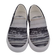 Marble Tiles Rock Stone Statues Pattern Texture Women s Canvas Slip Ons