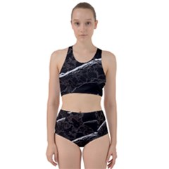 Marble Tiles Rock Stone Statues Racer Back Bikini Set