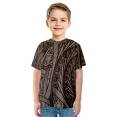 Abstract Pattern Graphics Kids  Sport Mesh Tee