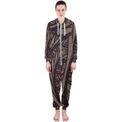 Abstract Pattern Graphics Hooded Jumpsuit (ladies)