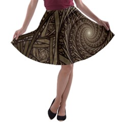 Abstract Pattern Graphics A Line Skater Skirt