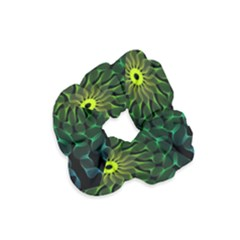 Abstract Ribbon Green Blue Hues Velvet Scrunchie