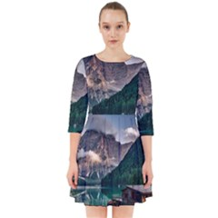 Italy Mountains Pragser Wildsee Smock Dress