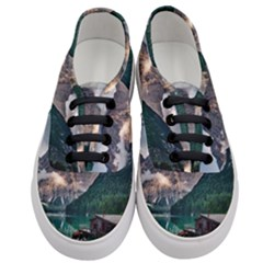 Italy Mountains Pragser Wildsee Women s Classic Low Top Sneakers