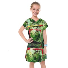 Continental Breakfast 6 Kids  Drop Waist Dress