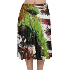 Collosium   Swards And Helmets 3 Velvet Flared Midi Skirt