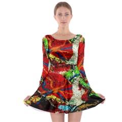 Coffee Land 1 Long Sleeve Skater Dress