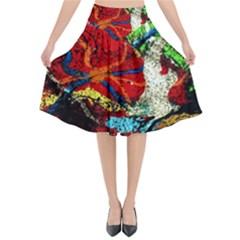 Coffee Land 1 Flared Midi Skirt