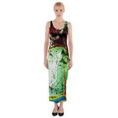 Coffee Land 2 Fitted Maxi Dress