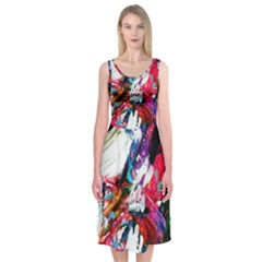 Way Up To Tailand Midi Sleeveless Dress
