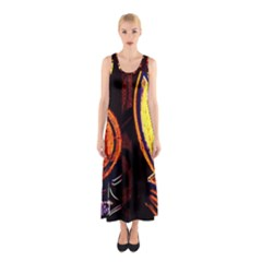 Cryptography Of The Planet Sleeveless Maxi Dress