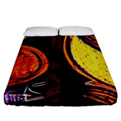 Cryptography Of The Planet Fitted Sheet (california King Size) by bestdesignintheworld