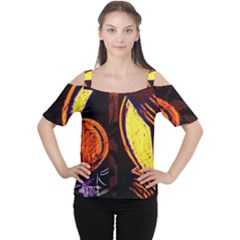 Cryptography Of The Planet Cutout Shoulder Tee
