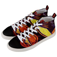 Cryptography Of The Planet Men s Mid Top Canvas Sneakers by bestdesignintheworld
