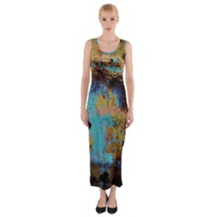 Blue Options 5 Fitted Maxi Dress