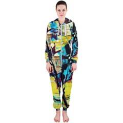 Dance Of Oil Towers 3 Hooded Jumpsuit (ladies)